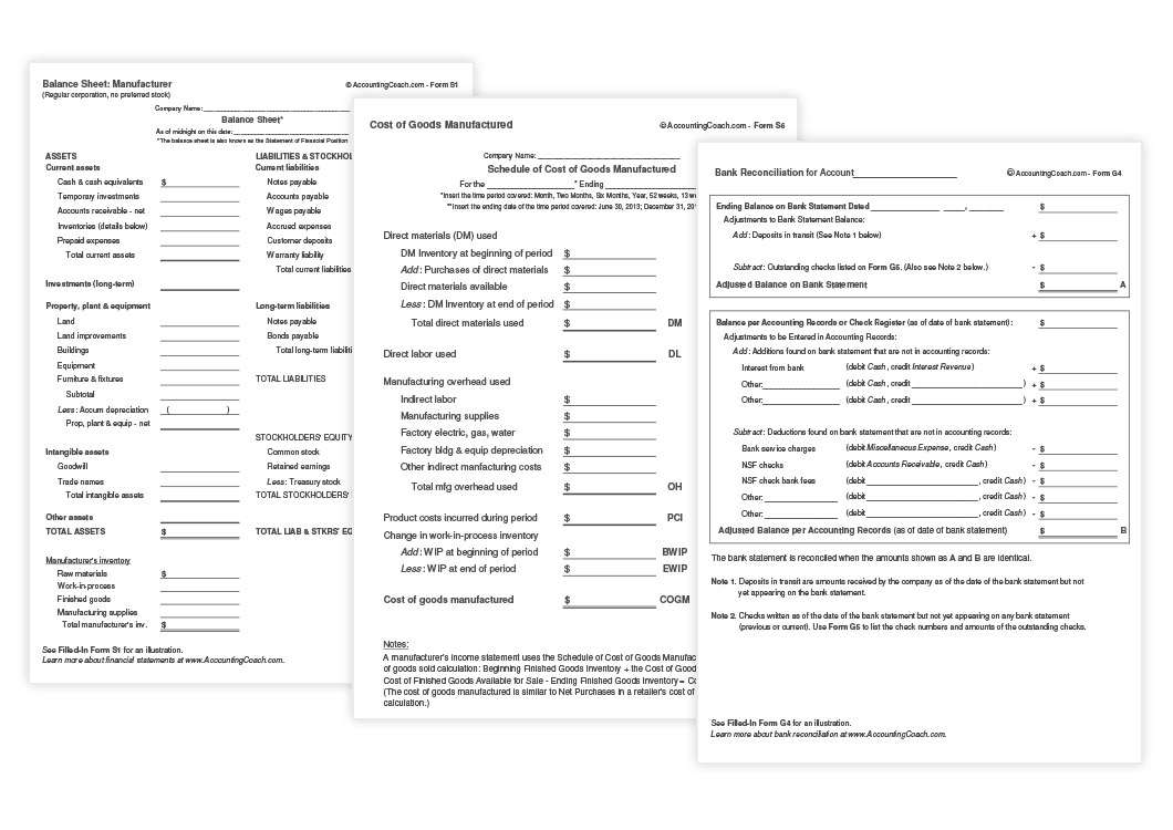 graphic relating to Business Form Templates identify Accounting Organization Types and Templates AccountingCoach