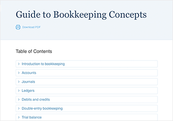 Guide to Bookkeeping Concepts
