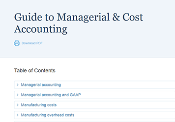 Managerial & Cost Accounting Insights