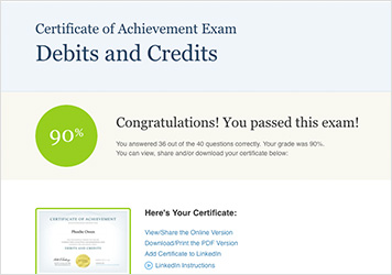 Accounting Certificates of Achievet | AccountingCoach PRO Plus