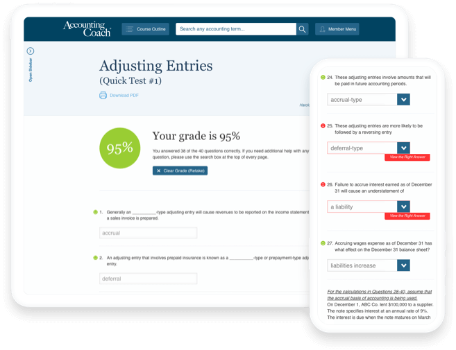Pro Features and Secure Checkout   AccountingCoach PRO