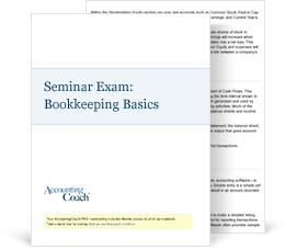 Exam for Seminar, Bookeeping Basics Cover