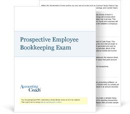 BookkeepingExam for Prospective Employees Exam Cover
