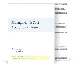 Managerial and Cost Accounting Exam Cover