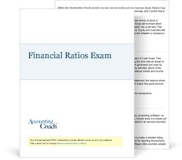 Financial Ratios Exam Cover