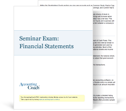 Seminar Exam: Understanding Financial Statements Exam Cover
