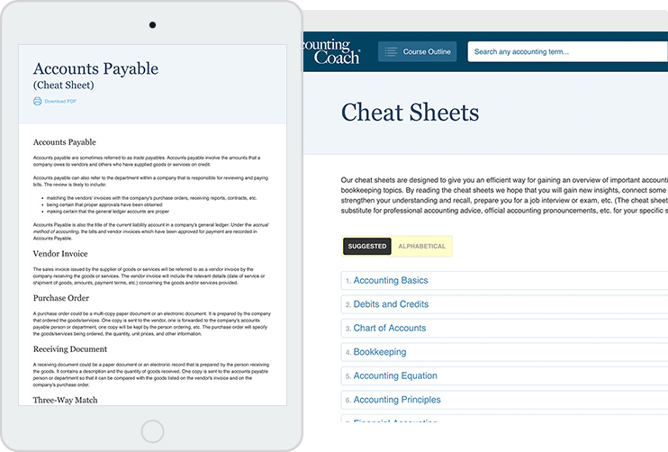 managerial accounting cheat sheet pdf