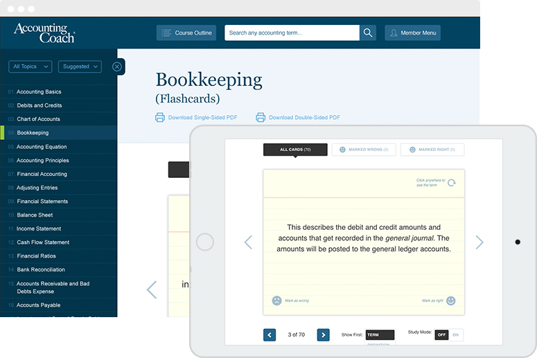 Pro Features and Secure Checkout | AccountingCoach PRO
